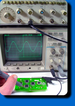 circuit testing with an ocilloscope